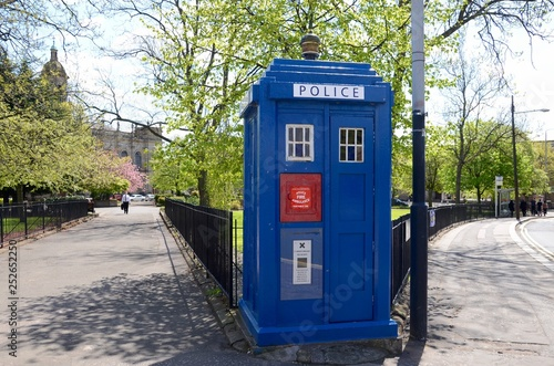 Canvas Print This is one of only 4 surviving police boxes in Glasgow and dates from 1935