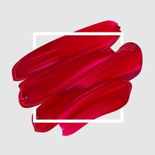 Pink Vector Lipstick Smear. Fe...