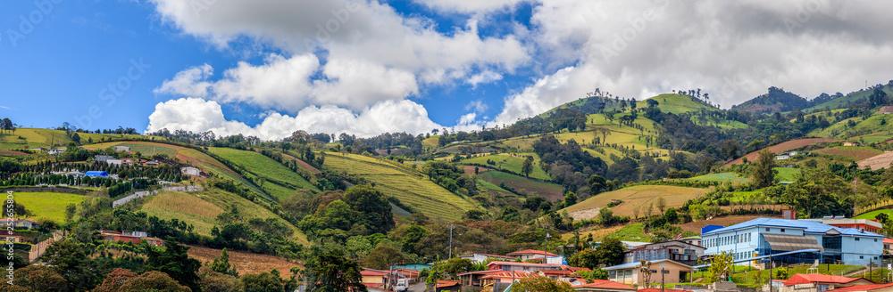 Fototapeta Rural landscape of Cartago Province, Costa Rica