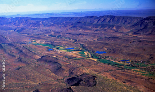 Photo Stands Candy pink South Africa: Airshot from Swartberg-Mountains in the little Karoo