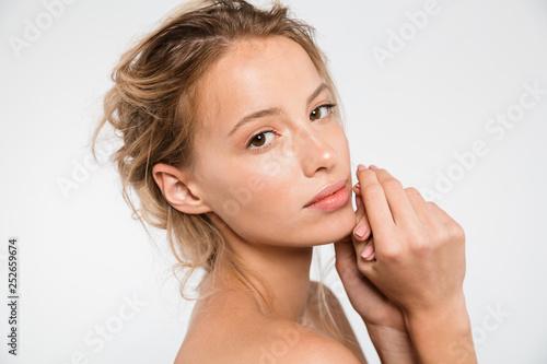 Beauty portrait of an attractive blonde woman Wallpaper Mural