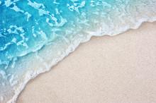 Soft Blue Ocean Wave On Clean ...