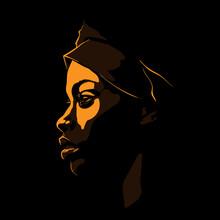 Black African Woman Portrait S...