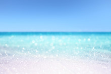 Tropical Sandy Beach Summer Concept Background
