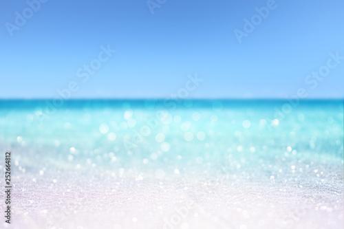 Obraz tropical sandy beach summer concept background - fototapety do salonu