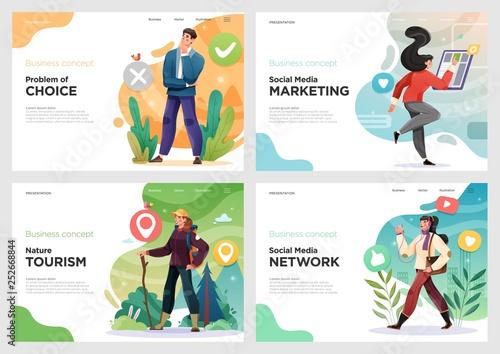 Fotografía  Set of website template designs