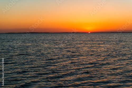 Sunset near Key Largo Everglades Florida