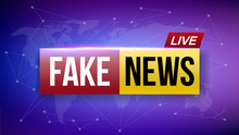 Creative Vector Illustration Of Fake News Live Broadcasting Television Screen Isolated On Transparent Background. Art Design Channel Tv Template. Abstract Concept Graphic Element