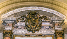 Detail From The Sacristy Of Saint Peters Basilica In Rome, Italy.
