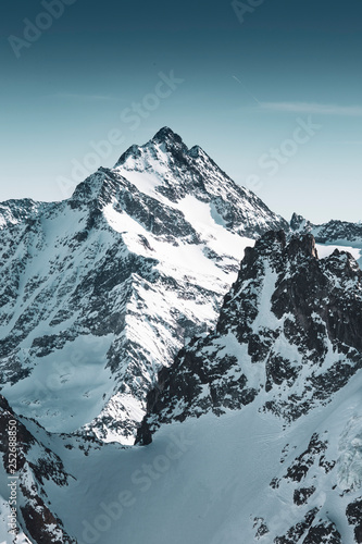 Schweizer Alpen Canvas Print