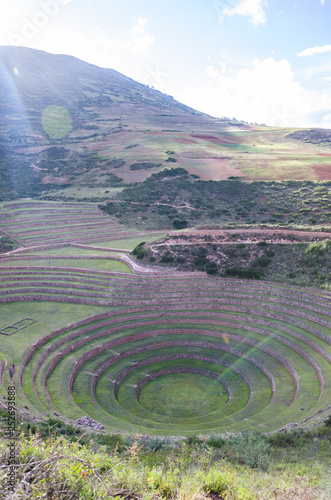 Fotografia Agricultural terraces in the Sacred Valley