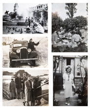 1940-1950s. English People On Travel And Days Out. Set Of Vintage Photos.