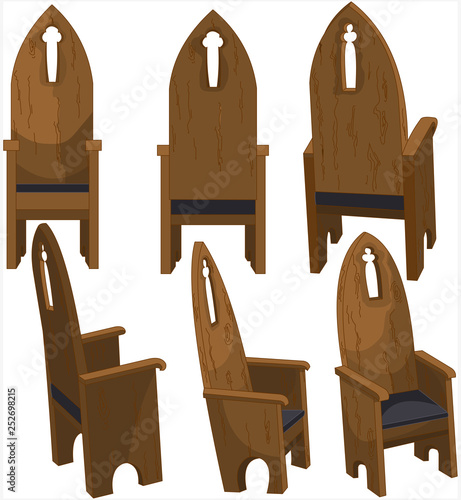 Keuken foto achterwand Sprookjeswereld Cathedra Church Chairs