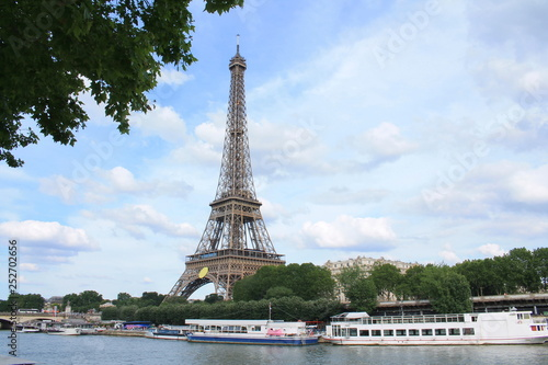 Printed kitchen splashbacks The Eiffel Tower in Paris, capital and the most populous city of France
