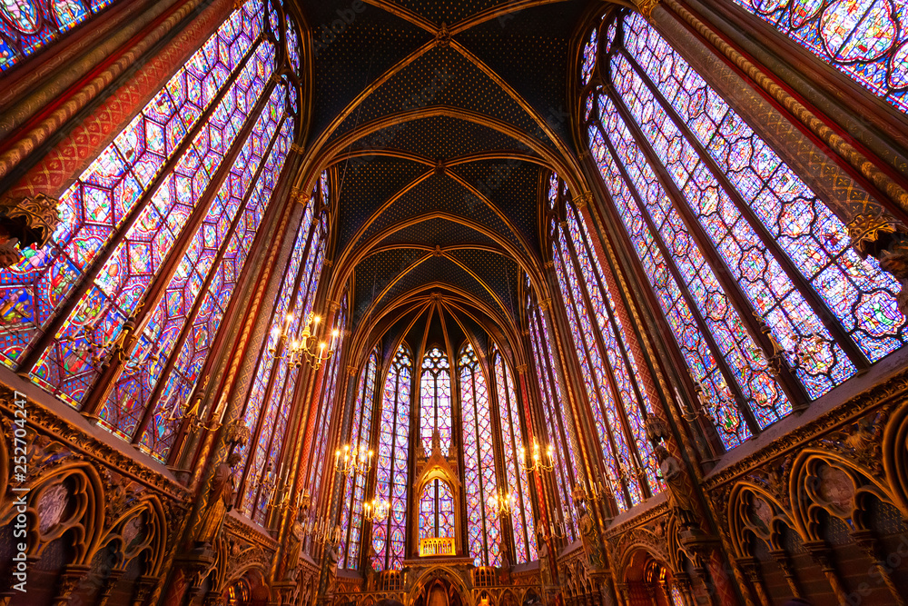 Fototapety, obrazy: Stained glass windows of Saint Chapelle