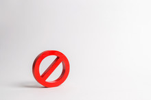 No Sign Or No Symbol. Minimalism. The Concept Of Prohibition And Restriction. Censorship, Control Over The Internet And Information. Restrictive Laws. Crazy Laws Printer. Something Is Not Permitted