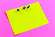 canvas print picture - yellow sticker, place for your ad, copy spaсe