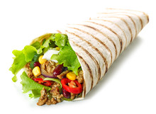 Tortilla Wrap With Fried Mince...