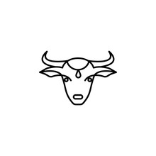India, Cow Icon. Element Of India Culture Icon. Thin Line Icon For Website Design And Development, App Development. Premium Icon