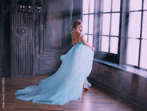 Fotografie, Tablou Cinderella after the fabulous incarnation, happy runs up to the window