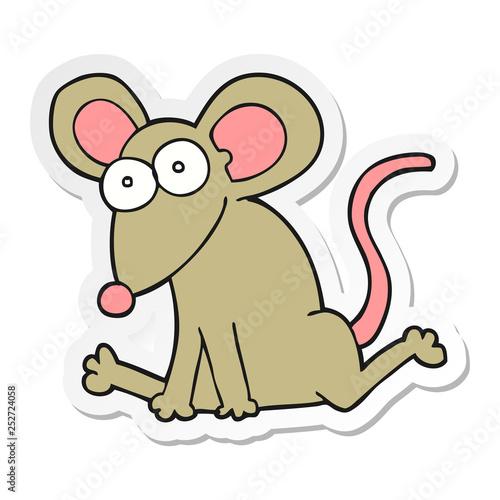 Poster de jardin Zoo sticker of a cartoon mouse