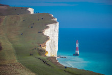 The Hills At Beachy Head Eastbourne On A Sunny Day