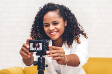 African American Woman Blogger...