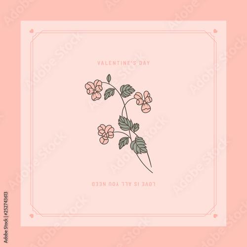 Photo  Valentines card design