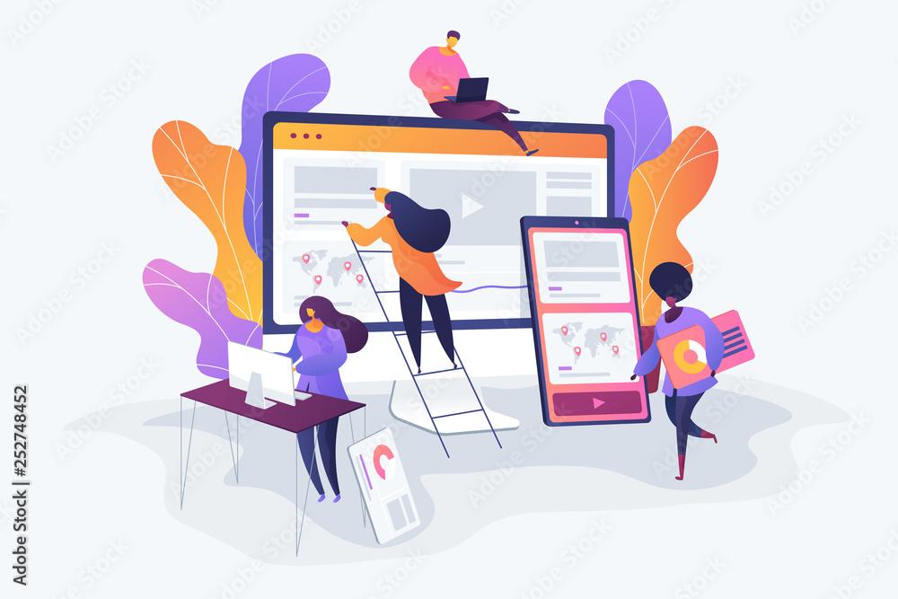 Fototapeta Web design development concept vector illustration