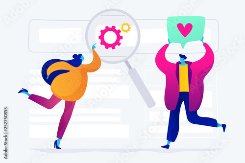 SEO analytics team concept vector illustration.