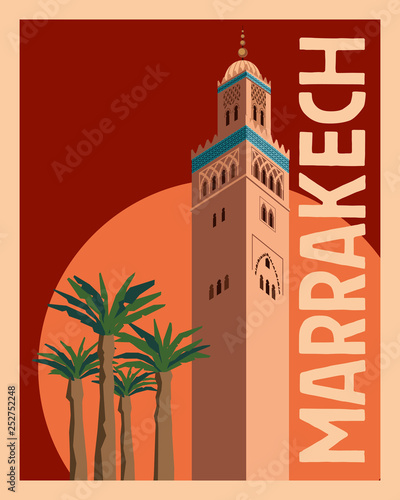 Photo Tourist Postcard Marrakech