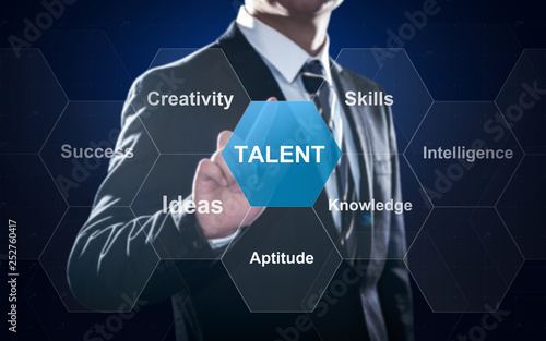 Concept about talent, performance based on outstanding intelligence and knowledg Canvas Print