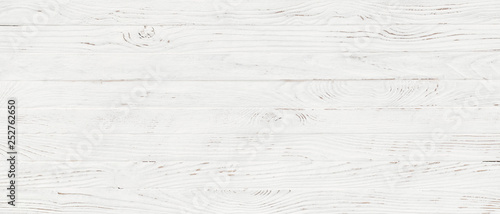Photo Stands Wood white wood texture background, top view wooden plank panel