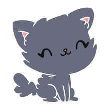 Cartoon Cute Kawaii Fluffy Cat