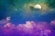 colorful night sky