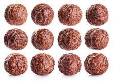 Chocolate Corn Balls Isolated ...