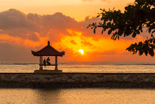 Karang Beach, Sanur, Bali, Indonesia With Beautiful Scenery.