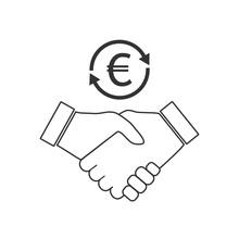 Business Handshake Icon. Vecto...