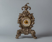 Old Vintage Clock Isolated On ...