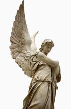 Beautiful Angel With Big Wings. Guardian Angel. Angel Savior