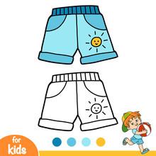 Coloring Book, Kids Shorts