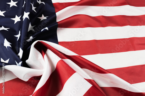 Canvas Prints Textures American flag waving background. Independence Day, Memorial Day, Labor Day - Image.