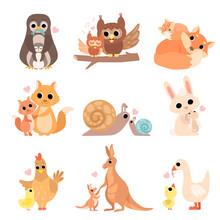 Cute Animal Families Set, Peng...