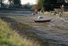 River Drought, Boat Without Wa...
