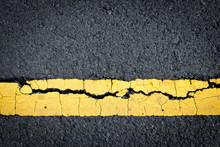 Asphalt Crack Background.