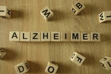 Alzheimer Word From Wooden Blocks On Desk