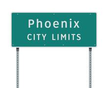 Phoenix City Limits Road Sign