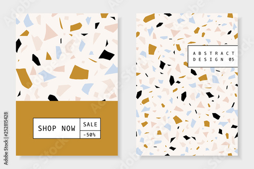 Collage and Terrazzo Brochure Design Templates