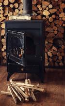 Vintage Wood Burning Stove In Albania