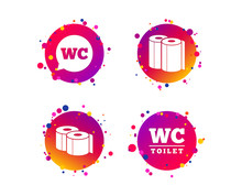 Toilet Paper Icons. Gents And ...